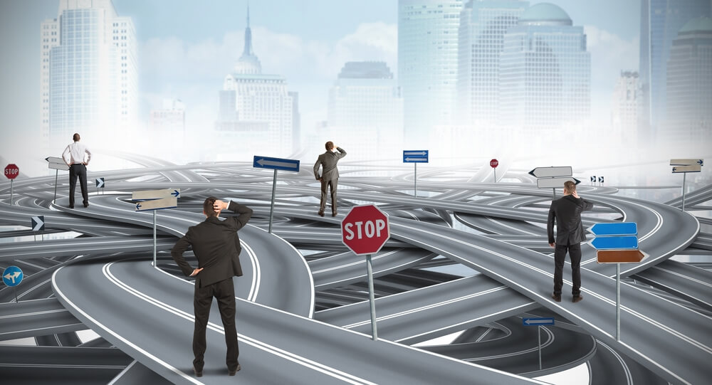 Men are confused by so many roads...they don't know which way to turn
