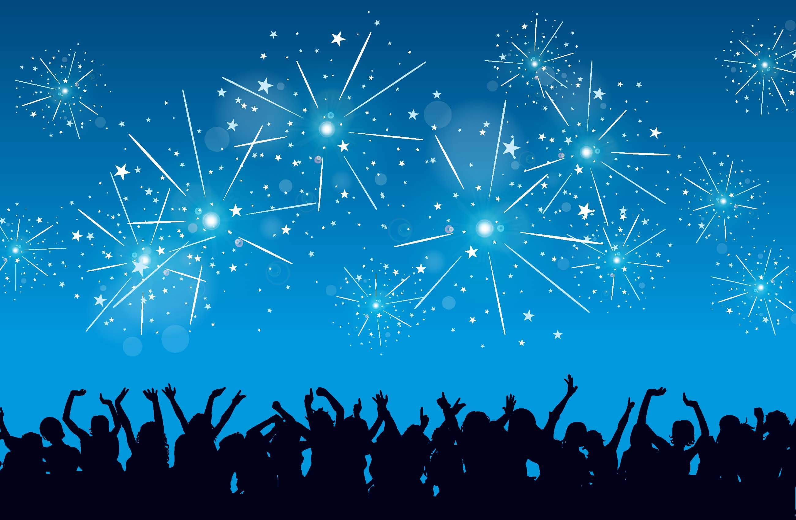 A crowd cheering under fireworks showing how to Engage High Performers During Organizational Change