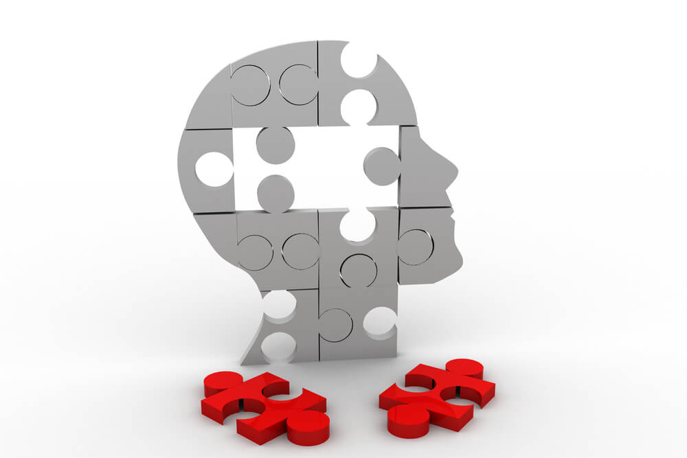 A puzzle graphic of a man's head with 2 pieces missing showing what employee engagement training could do